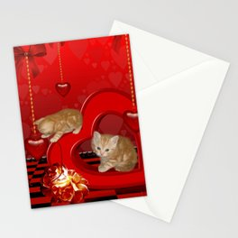 Cute, playing kitten Stationery Cards