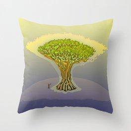 Drago / The Sacred Tree Throw Pillow