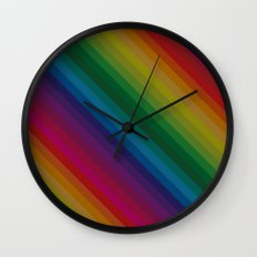 Sophisticated Rainbow Wall Clock