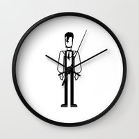 david bowie Wall Clocks featuring David Bowie by Band Land