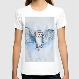 Watercolor owl T-shirt