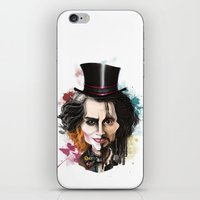 johnny depp iPhone & iPod Skins featuring Johnny Depp by Owen Ballesteros