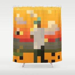 Scum Pixel Flower Boy Shower Curtain