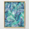 Palm Leaves - Indigo Green by silverpegasus