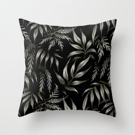 Brooklyn Forest - Black Throw Pillow