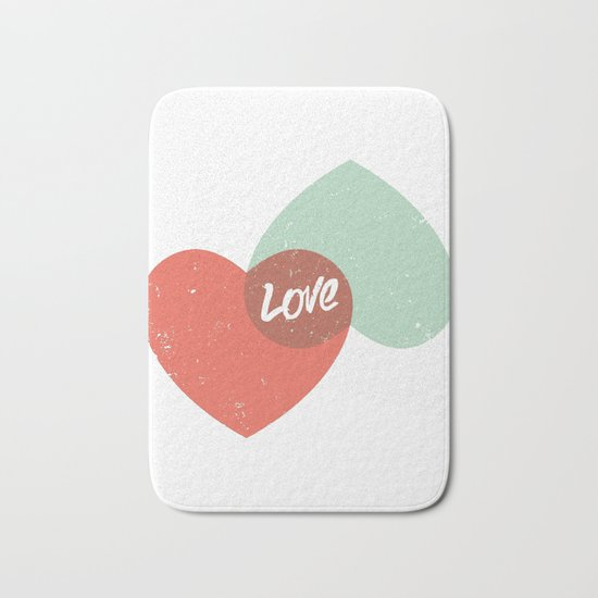 Two lovely hearts Bath Mat