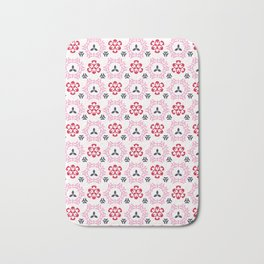 Pink Cherry Bloom Asian Style Ornamental Seamless Bath Mat