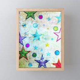 Stars & Circles Fab Pattern Framed Mini Art Print