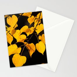 Autumn Foliage Yellow Leaves #decor #buyart #society6 Stationery Cards