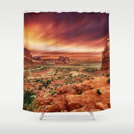 Arches at Sunset Shower Curtain