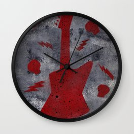 The Red Guitar Wall Clock