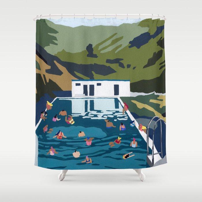 Seljavallalaug Shower Curtain