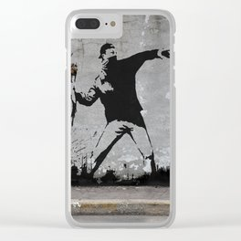 Banksy Clear iPhone Case