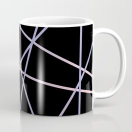Rose Quartz & Serenity on Black Coffee Mug