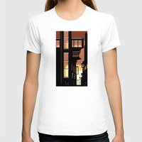 cityscape T-shirts featuring Sunrise Cityscape by Andrew Formosa