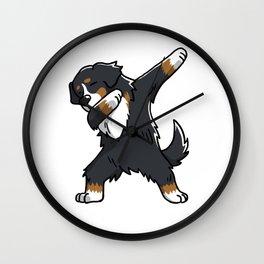 Funny Bernese Mountain Dog Dabbing Wall Clock