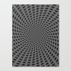Spiral Rays in Monochrome Canvas Print