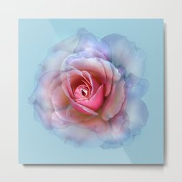 bed of roses: robin's egg blue ghost Metal Print