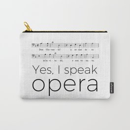 I speak opera (bass) Carry-All Pouch