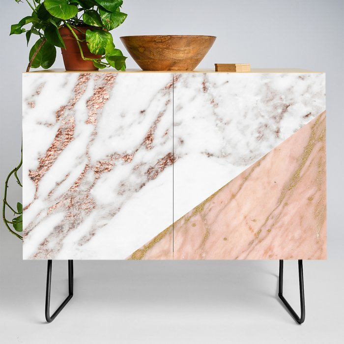 Marble_rose_gold_blended_Credenza_by_marbleco__Black__Birch