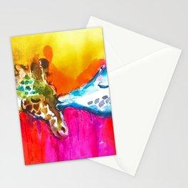 Giraffe Kiss Stationery Cards