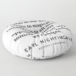 15   |  Earl Nightingale Quotes | 190829 Floor Pillow