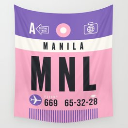 Luggage Tag A - MNL Manila Philippines Wall Tapestry