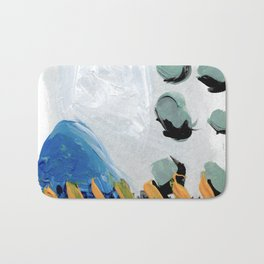 Abstract minimal building scape Bath Mat