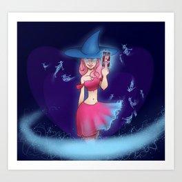 Wild Card Witch Art Print