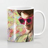 darren criss Mugs featuring Colourful Darren Criss by Ines92