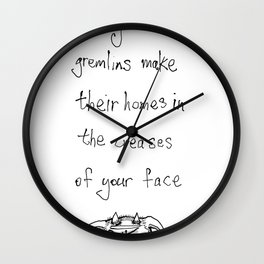 when you frown Wall Clock