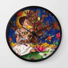 In love with a story Wall Clock
