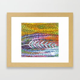 Stained Glass Prairie Feather Framed Art Print