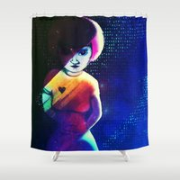 disco Shower Curtains featuring Disco by IOSQ
