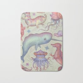 Creatures of the Deep Sea Bath Mat