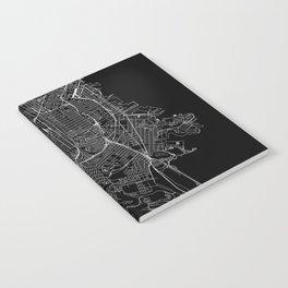 San Francisco Black Map Notebook