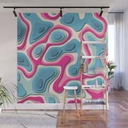 Flamingo river Wall Mural