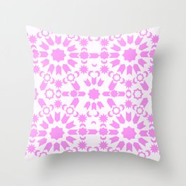 Pink Arabesque Throw Pillow