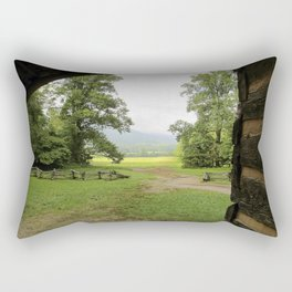 Looking Out from the Cabin Rectangular Pillow