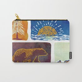 Outdoor Trip Watercolor Carry-All Pouch