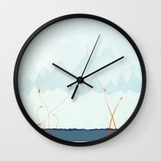 Winter Landscape Wall Clock