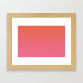 Pantone Living Coral & Pink Lemonade Gradient Ombre Blend Framed Art Print