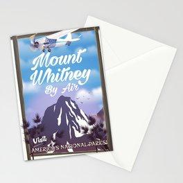 Mount Whitney vintage Travel poster Stationery Cards