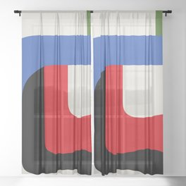 TAKE ME OUT (abstract geometric) Sheer Curtain