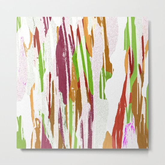 Abstract Rainbow Splash Design Metal Print