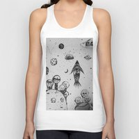 hunting Tank Tops featuring Interstellar hunting by monicamarcov