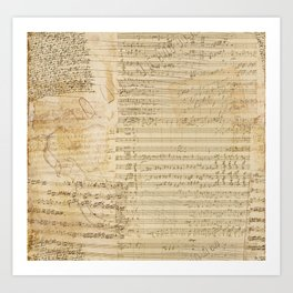 Classical music notations Art Print