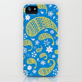 Gold Paisley iPhone Case