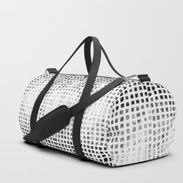 Square and Diamond Geometric Block Print Duffle Bag