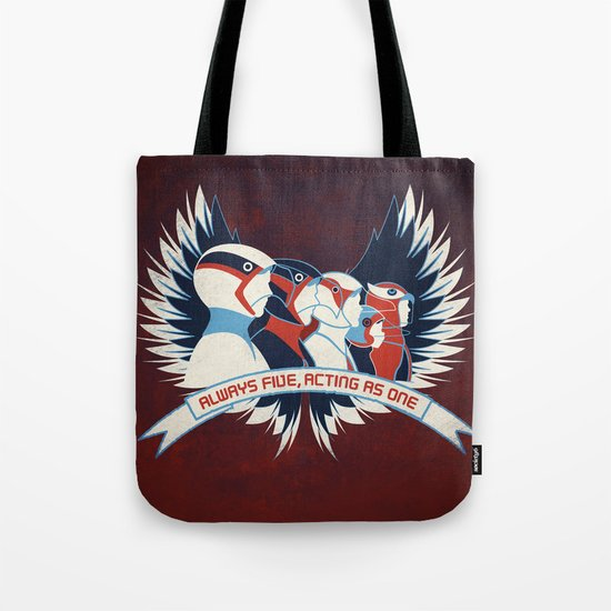 Always Five, Acting As One Tote Bag